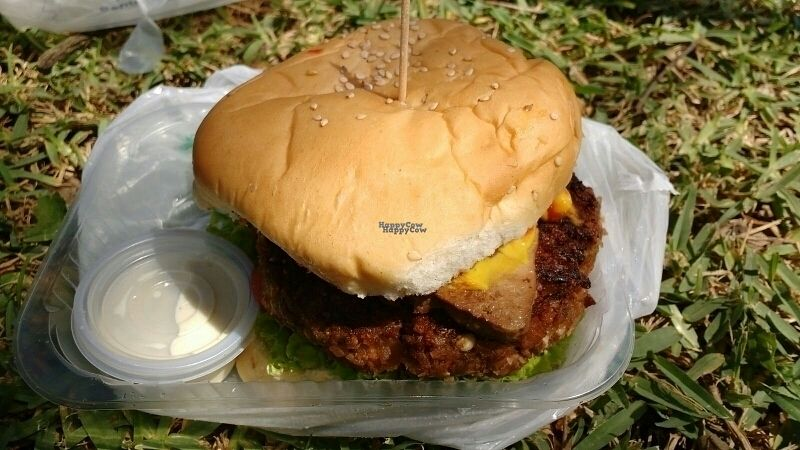 """Photo of Fast & Vegan  by <a href=""""/members/profile/Marionvegan"""">Marionvegan</a> <br/>Delicious soy Burger with tofu <br/> September 1, 2016  - <a href='/contact/abuse/image/75590/172761'>Report</a>"""