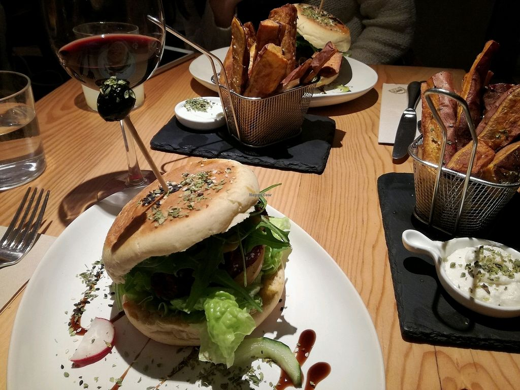 """Photo of Ao 26 - Vegan Food Project  by <a href=""""/members/profile/DanielKrist"""">DanielKrist</a> <br/>beet root burger <br/> February 17, 2018  - <a href='/contact/abuse/image/75593/360247'>Report</a>"""