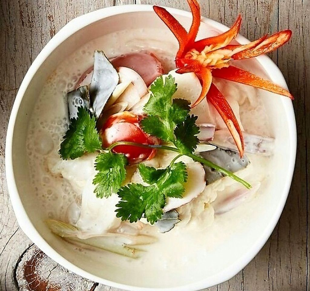"""Photo of Kindness Cafe  by <a href=""""/members/profile/Kindnesscafe"""">Kindnesscafe</a> <br/>Tom Kha: Thai thin coconut soup w/ fresh herbs & mushrooms  <br/> November 10, 2016  - <a href='/contact/abuse/image/75597/248029'>Report</a>"""