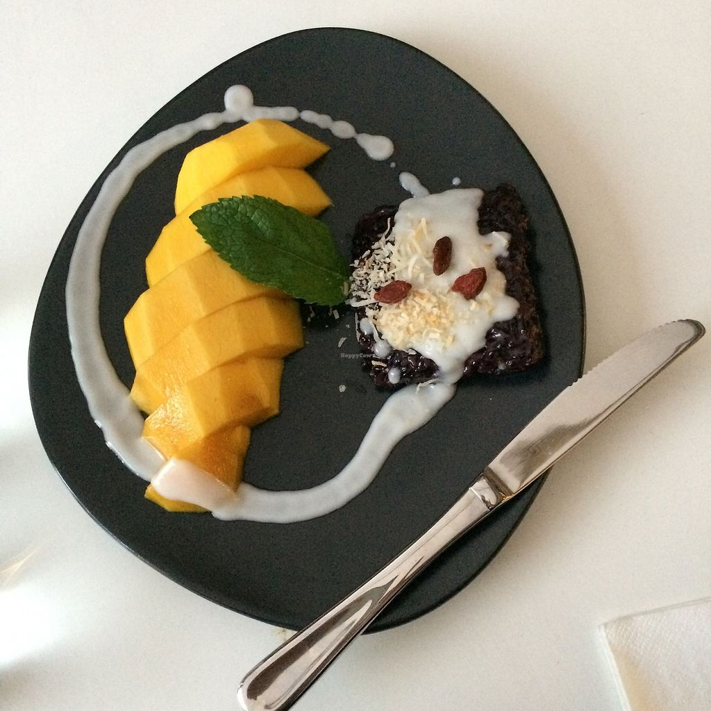 """Photo of Kindness Cafe  by <a href=""""/members/profile/evoontoast"""">evoontoast</a> <br/>Mango Sticky Rice for dessert - a contemporary take on a Thai classic, amazing! <br/> July 22, 2017  - <a href='/contact/abuse/image/75597/283159'>Report</a>"""