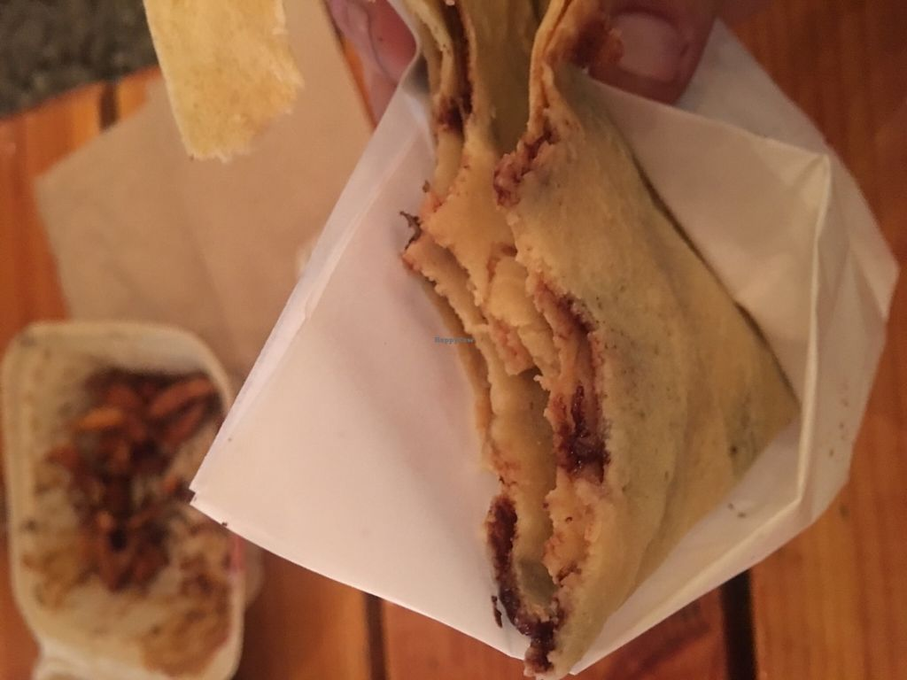"Photo of Perierra Creperie -  Food Truck  by <a href=""/members/profile/Arthousebill"">Arthousebill</a> <br/>Chocolate pear crepe <br/> June 26, 2016  - <a href='/contact/abuse/image/75613/156172'>Report</a>"
