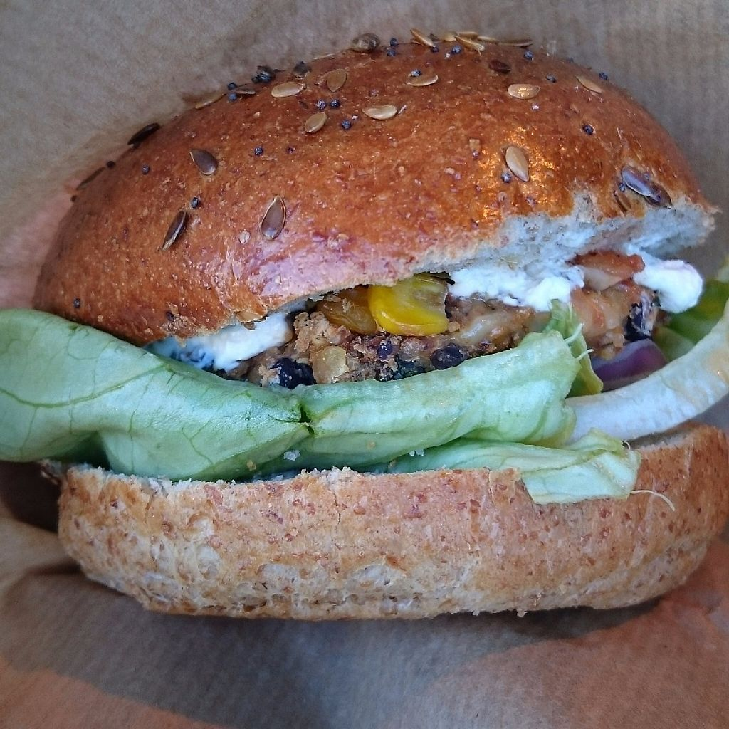 "Photo of Big V - Borough Market Food Stand  by <a href=""/members/profile/robz"">robz</a> <br/>Spicy chickpea burger <br/> December 12, 2016  - <a href='/contact/abuse/image/75620/200464'>Report</a>"