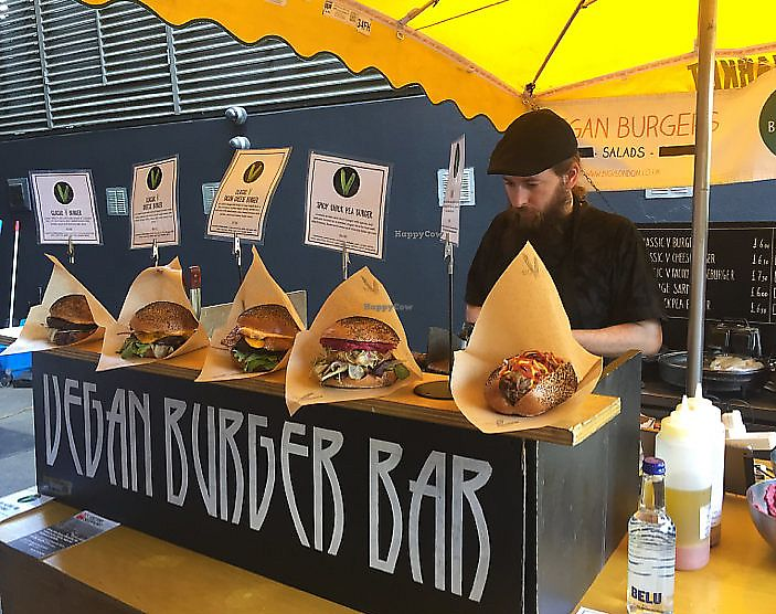 "Photo of Big V - Borough Market Food Stand  by <a href=""/members/profile/YuliaItin"">YuliaItin</a> <br/>vegan burgers  <br/> June 14, 2017  - <a href='/contact/abuse/image/75620/325704'>Report</a>"