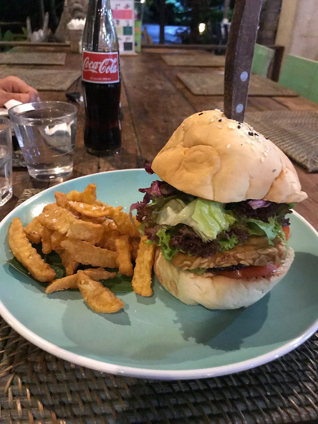 """Photo of The Cashew Tree  by <a href=""""/members/profile/LolaNachtigall"""">LolaNachtigall</a> <br/>Vegan Tempeh Burger :)  <br/> November 19, 2017  - <a href='/contact/abuse/image/75644/326998'>Report</a>"""