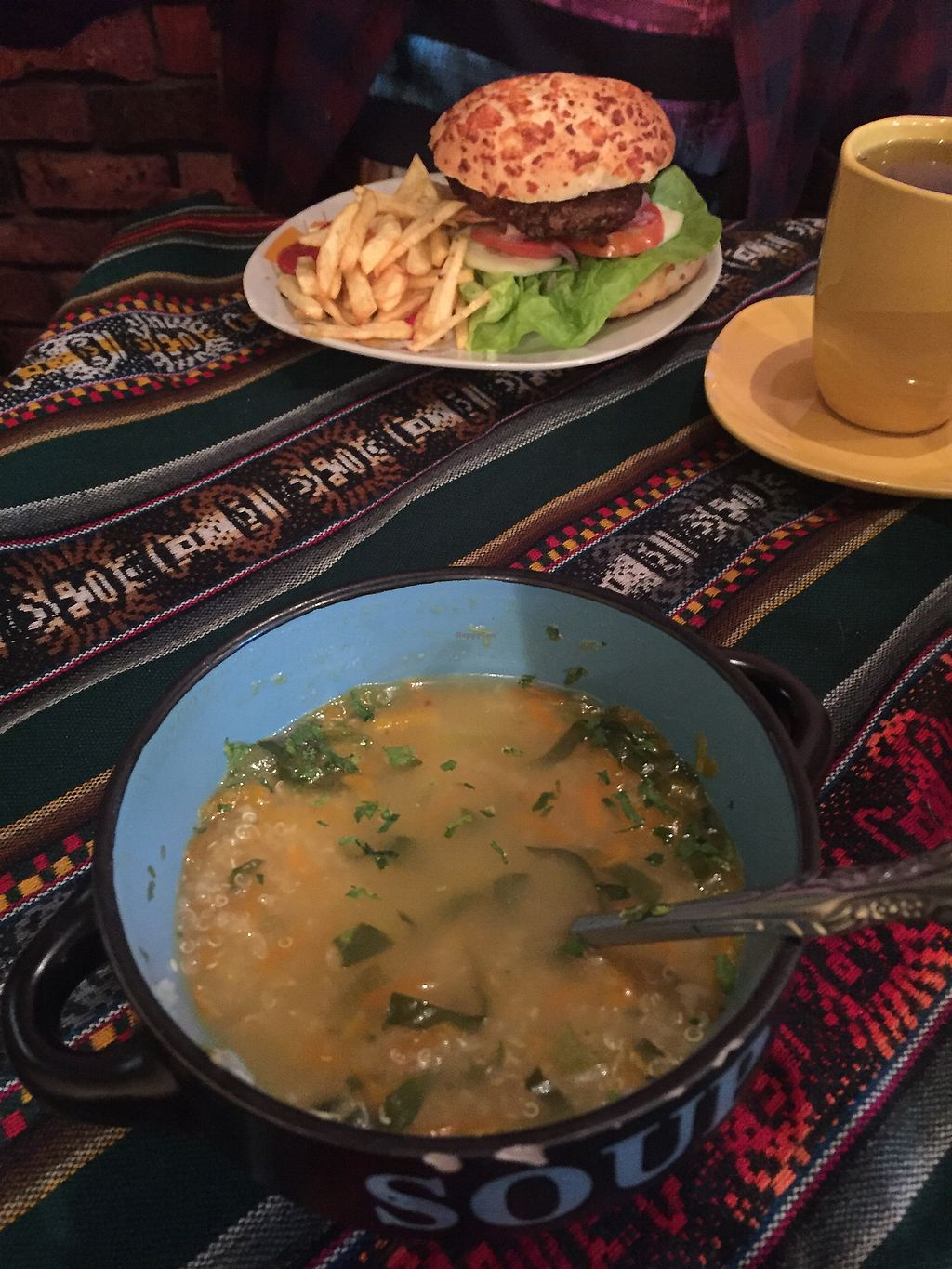"Photo of Koala Cafe  by <a href=""/members/profile/Dianebg"">Dianebg</a> <br/>Quinoa soup and lentil burger  <br/> October 29, 2017  - <a href='/contact/abuse/image/75648/319924'>Report</a>"