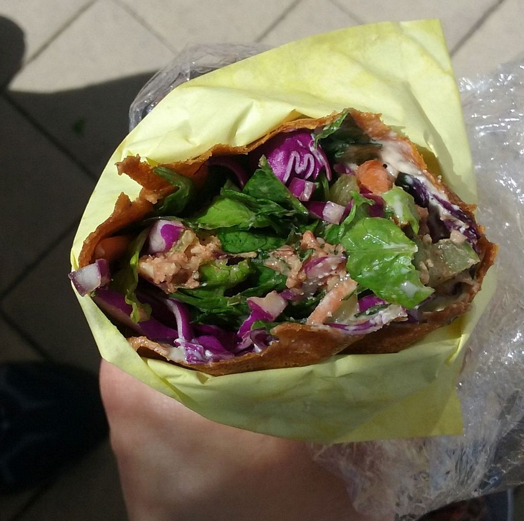"Photo of Que SeRaw SeRaw  by <a href=""/members/profile/alexandra_vegan"">alexandra_vegan</a> <br/>Raw vegan burrito. Delicious and filling <br/> April 4, 2016  - <a href='/contact/abuse/image/7564/142722'>Report</a>"