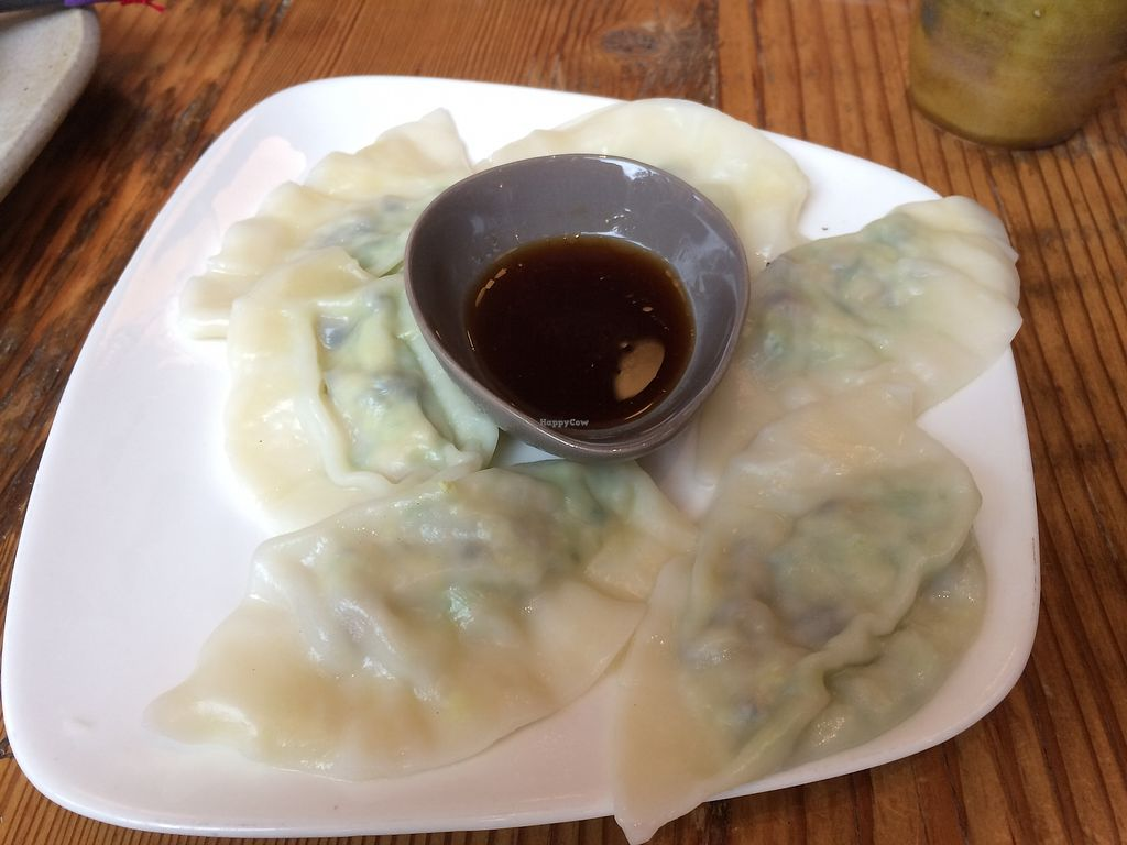 "Photo of Behind the Museum Cafe  by <a href=""/members/profile/Mdrutz"">Mdrutz</a> <br/>Avocado and tofu dumplings <br/> October 17, 2017  - <a href='/contact/abuse/image/75653/316188'>Report</a>"