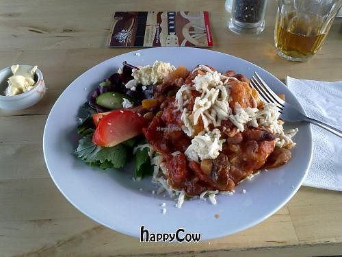 """Photo of Eat at The Stade  by <a href=""""/members/profile/SplashWellyKid"""">SplashWellyKid</a> <br/>Eat@TheStade - Five Bean Chilli & Vegan Cheese <br/> October 13, 2012  - <a href='/contact/abuse/image/7565/39066'>Report</a>"""