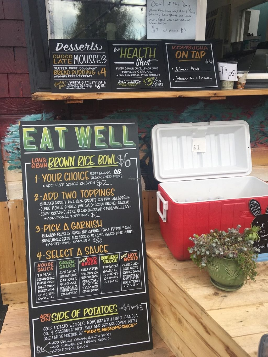 """Photo of CLOSED: Eat Well - Food Truck  by <a href=""""/members/profile/Arthousebill"""">Arthousebill</a> <br/>Menu <br/> June 26, 2016  - <a href='/contact/abuse/image/75660/156308'>Report</a>"""