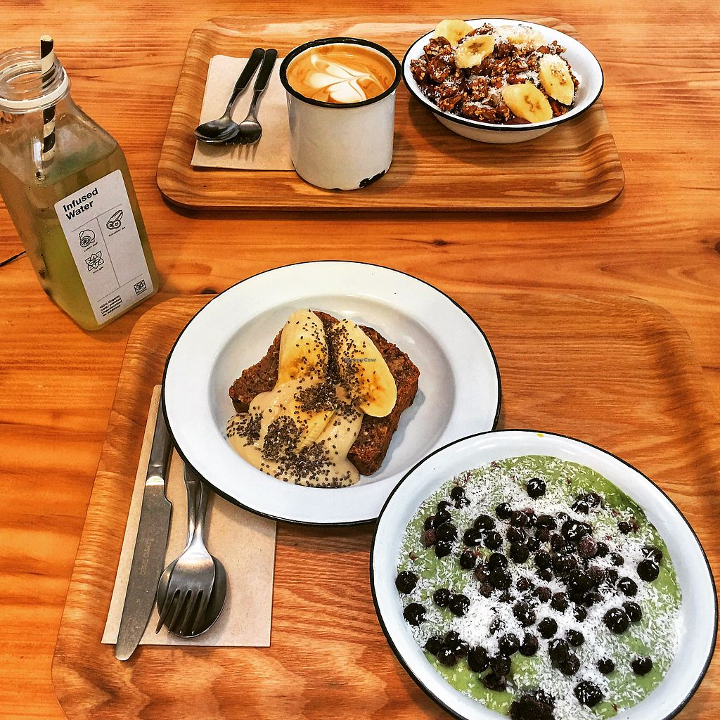 """Photo of Wild & The Moon  by <a href=""""/members/profile/Carmentx"""">Carmentx</a> <br/>Banana bread, matcha bowl, Acai bowl  <br/> March 1, 2018  - <a href='/contact/abuse/image/75688/365159'>Report</a>"""