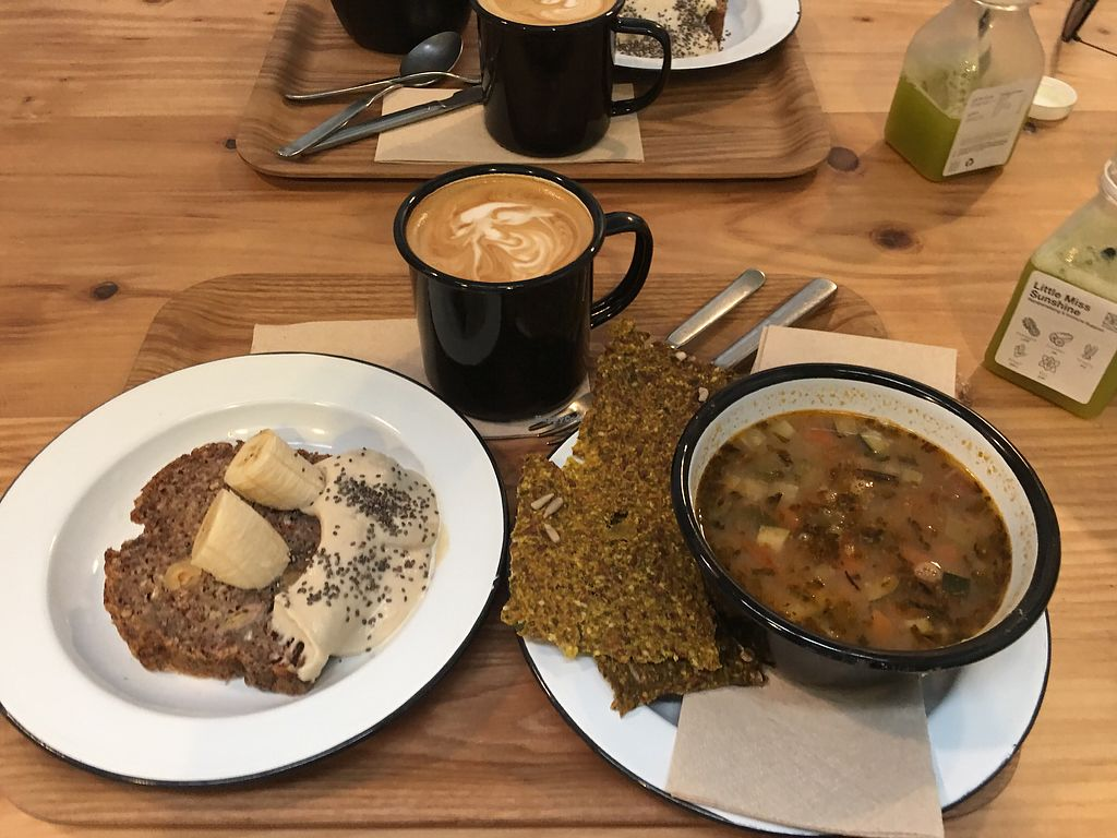 """Photo of Wild & The Moon  by <a href=""""/members/profile/Carmentx"""">Carmentx</a> <br/>Banana bread, soup of the day, coffee <br/> April 15, 2018  - <a href='/contact/abuse/image/75688/386444'>Report</a>"""