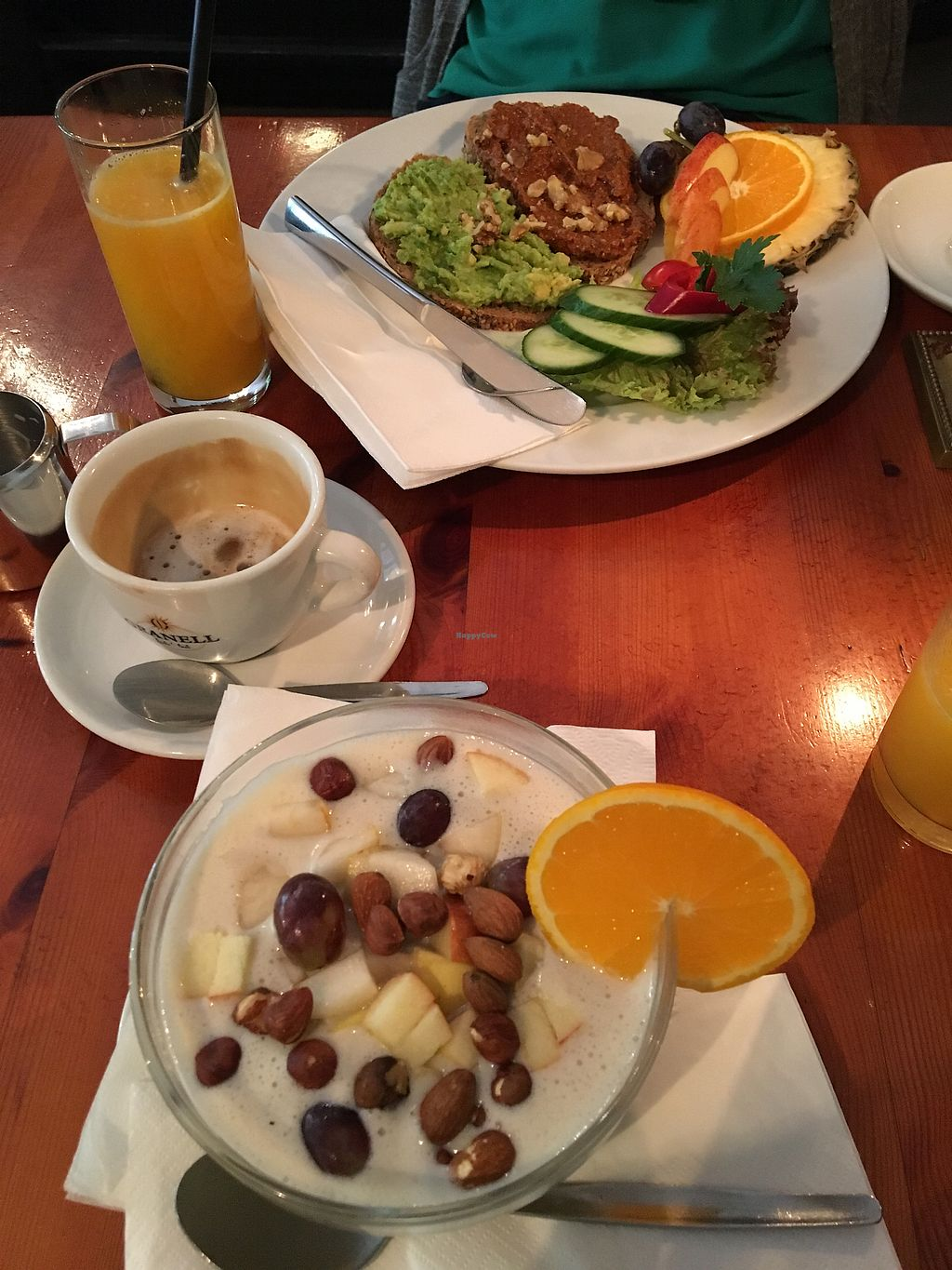 """Photo of Cafe V  by <a href=""""/members/profile/AnnikaPoij%C3%A4rvi"""">AnnikaPoijärvi</a> <br/>Porridge and sandwitch <br/> October 2, 2017  - <a href='/contact/abuse/image/7568/310999'>Report</a>"""