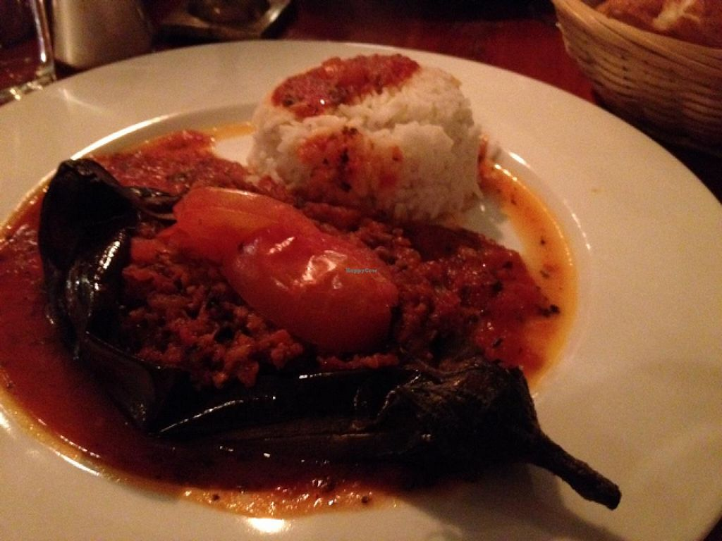 """Photo of Cafe V  by <a href=""""/members/profile/hack_man"""">hack_man</a> <br/>stuffed seitan aubergine <br/> April 19, 2015  - <a href='/contact/abuse/image/7568/99612'>Report</a>"""