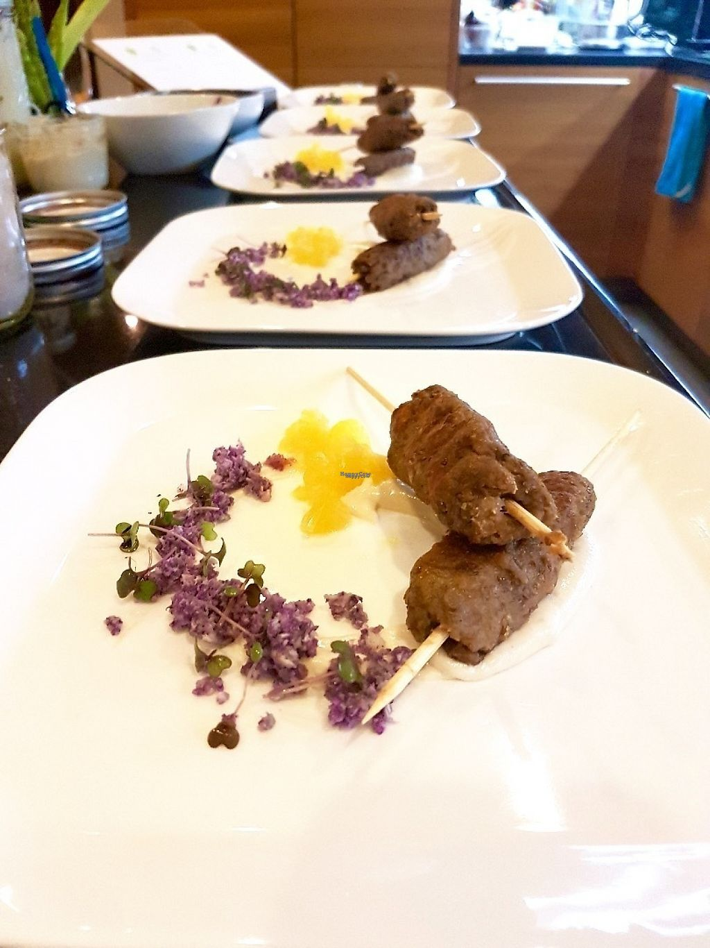 "Photo of Vegan Supper Club Bangkok  by <a href=""/members/profile/VeganCrush"">VeganCrush</a> <br/>Lentil Kofta on lemon macadamia cream, purple cauliflower, mandarin, microgreen.  <br/> March 23, 2017  - <a href='/contact/abuse/image/75708/239898'>Report</a>"