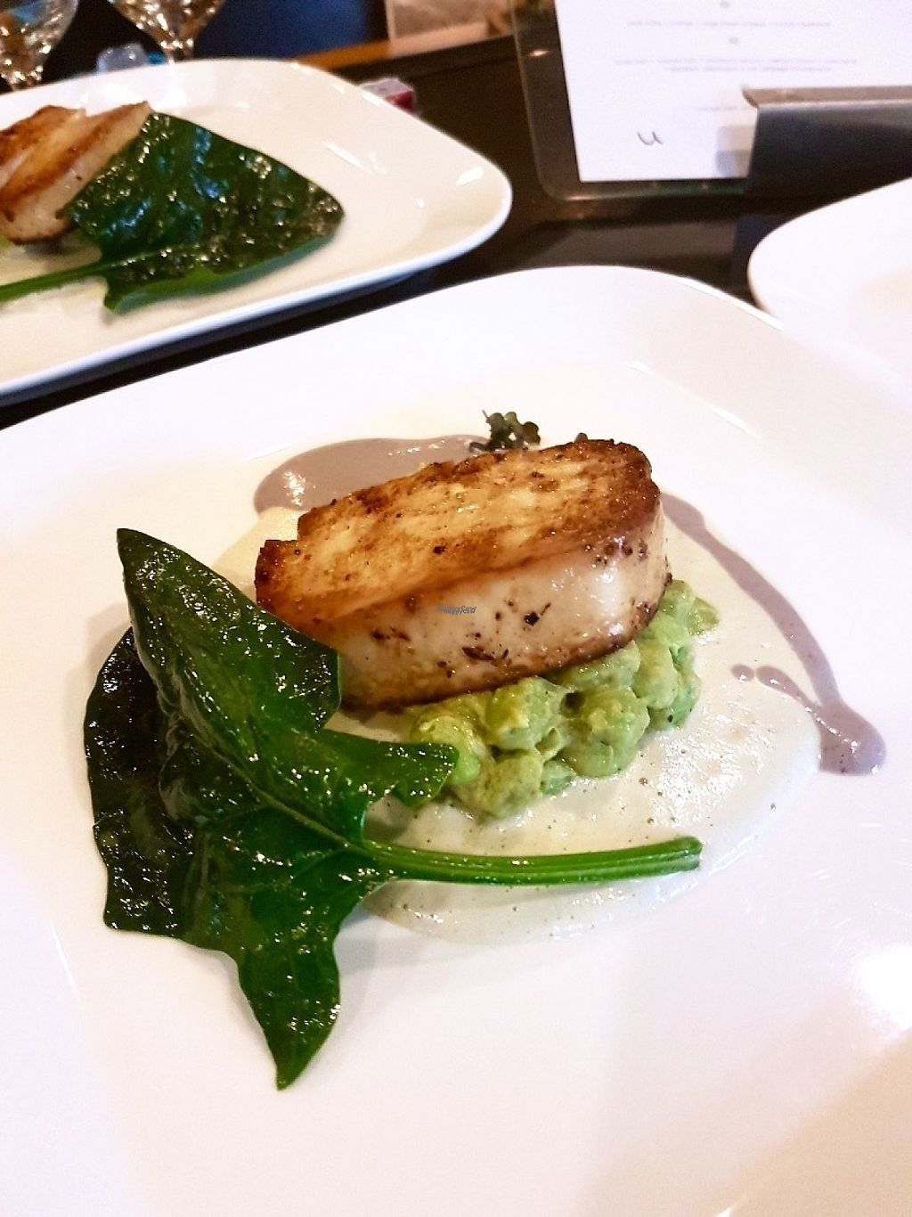 "Photo of Vegan Supper Club Bangkok  by <a href=""/members/profile/VeganCrush"">VeganCrush</a> <br/>Tofu Steak auf Edamame and Cashew Cream and Blueberry Cheese Sauce.  <br/> March 23, 2017  - <a href='/contact/abuse/image/75708/239899'>Report</a>"