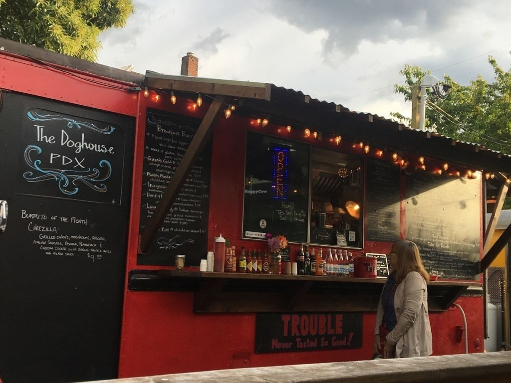 "Photo of The Doghuse PDX - Food Truck  by <a href=""/members/profile/Arthousebill"">Arthousebill</a> <br/>Food truck front and menu <br/> July 10, 2016  - <a href='/contact/abuse/image/75743/158861'>Report</a>"