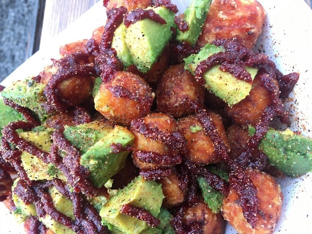 "Photo of The Doghuse PDX - Food Truck  by <a href=""/members/profile/Arthousebill"">Arthousebill</a> <br/>Sweet potatoe tot bowl, Korean sauce, sesame oil, avocado, seasoning <br/> July 10, 2016  - <a href='/contact/abuse/image/75743/221617'>Report</a>"