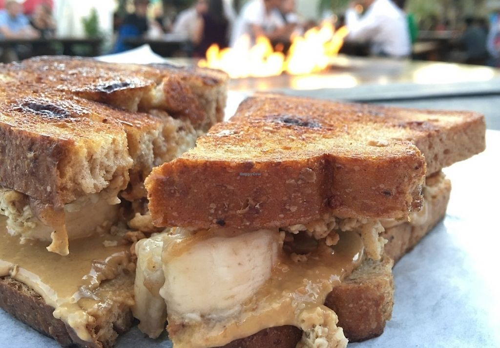 """Photo of CLOSED: PBJ Grilled - Food Truck  by <a href=""""/members/profile/Arthousebill"""">Arthousebill</a> <br/>Grilled nut butter, applesauce, banana, conn-raisin bread <br/> July 10, 2016  - <a href='/contact/abuse/image/75744/220634'>Report</a>"""