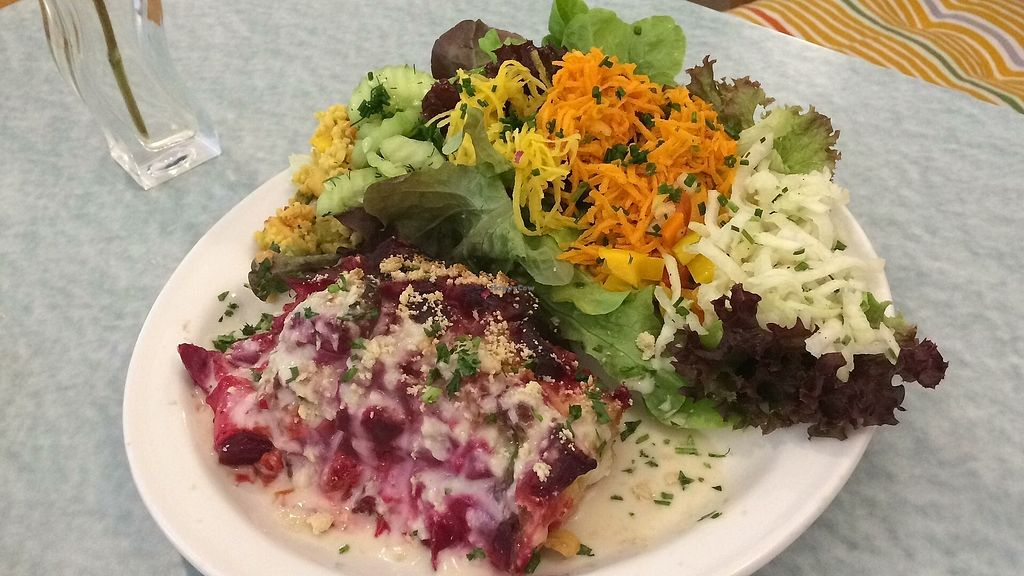 """Photo of Frau Dunschn  by <a href=""""/members/profile/RandyBoerboom"""">RandyBoerboom</a> <br/>Great daily dish and enjoyed the beet lasagna and salad <br/> September 13, 2017  - <a href='/contact/abuse/image/75752/304010'>Report</a>"""