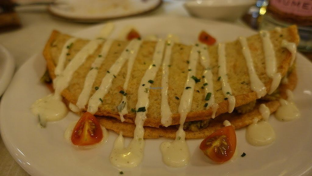 "Photo of Level Veggie Bistro  by <a href=""/members/profile/cleme36"">cleme36</a> <br/>chickpea crepes with garlic sauce <br/> May 25, 2017  - <a href='/contact/abuse/image/75754/262404'>Report</a>"