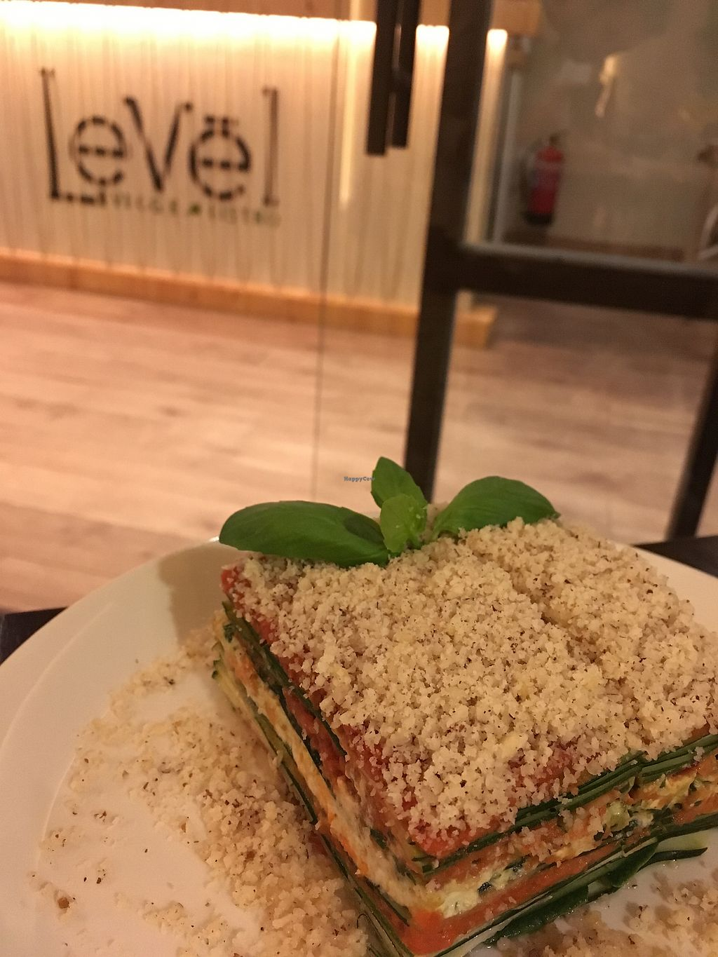 "Photo of Level Veggie Bistro  by <a href=""/members/profile/Edu"">Edu</a> <br/>Lasaña vegetal <br/> October 12, 2017  - <a href='/contact/abuse/image/75754/314421'>Report</a>"