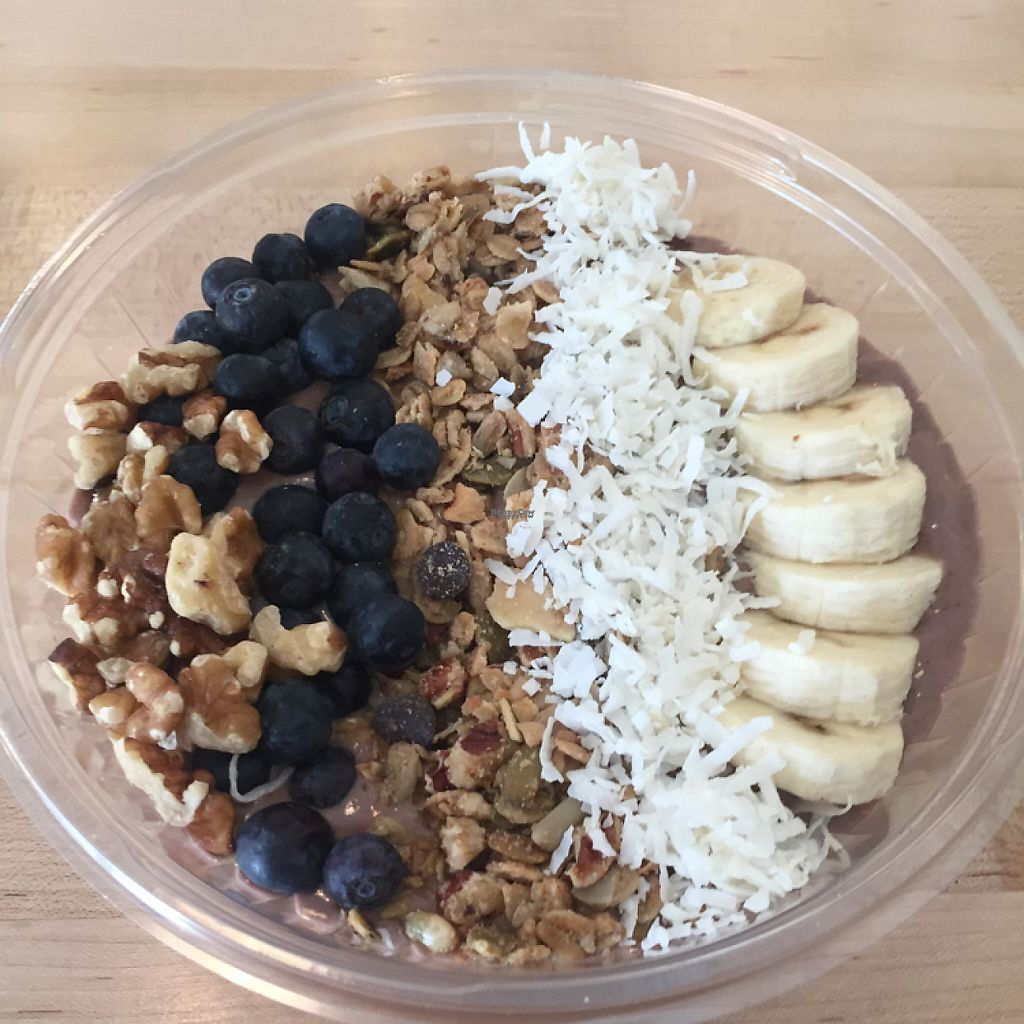 "Photo of The Juice Place  by <a href=""/members/profile/MaddyR"">MaddyR</a> <br/>acai bowl <br/> March 23, 2017  - <a href='/contact/abuse/image/75760/240023'>Report</a>"