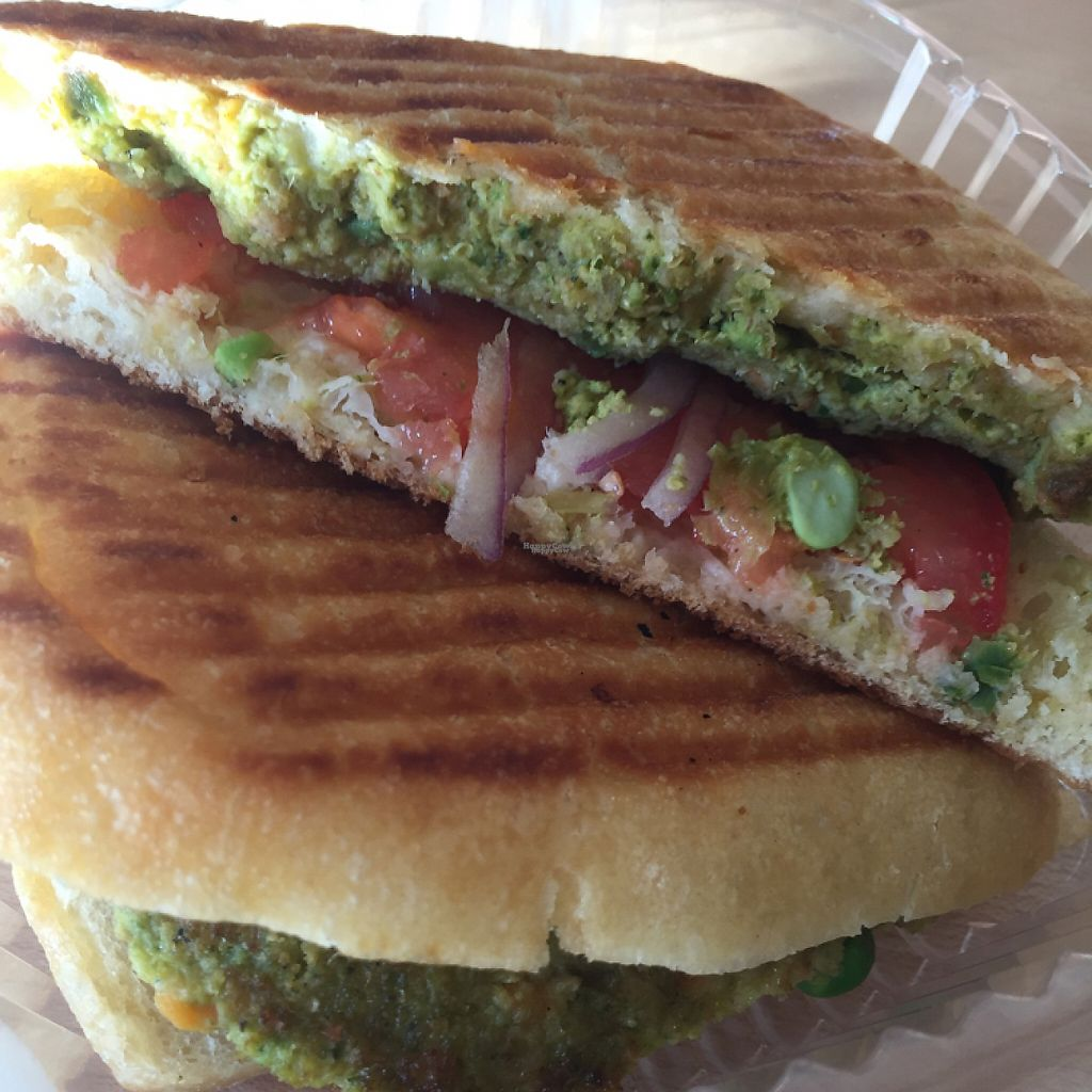 "Photo of The Juice Place  by <a href=""/members/profile/MaddyR"">MaddyR</a> <br/>veggie burger panini <br/> March 23, 2017  - <a href='/contact/abuse/image/75760/240049'>Report</a>"