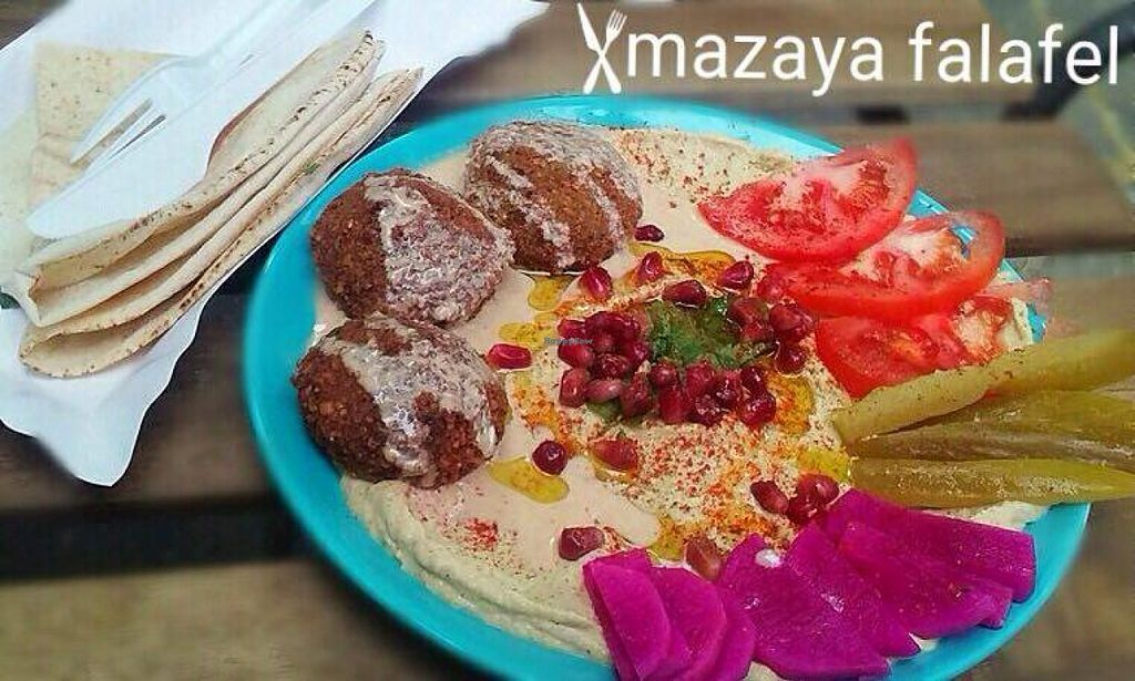 """Photo of Mazaya Falafel  by <a href=""""/members/profile/RoslinnieJemy"""">RoslinnieJemy</a> <br/>Mazaya falafel <br/> July 6, 2016  - <a href='/contact/abuse/image/75827/158155'>Report</a>"""