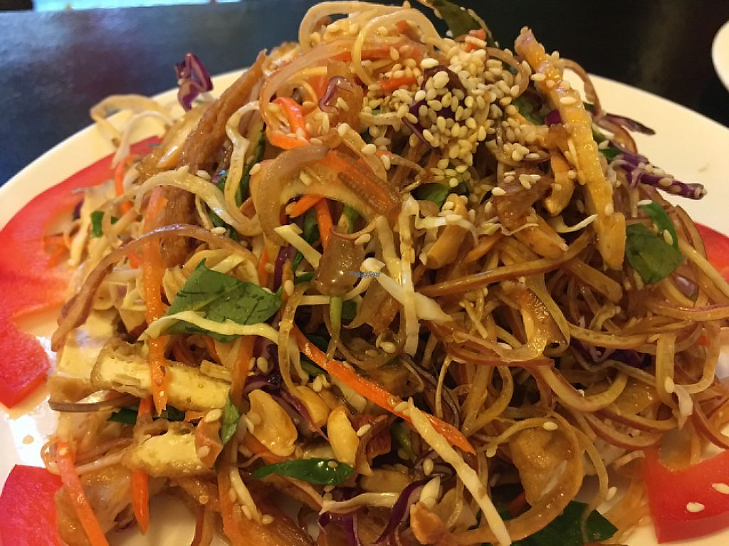 """Photo of Buddha Chay  by <a href=""""/members/profile/Veg4Jay"""">Veg4Jay</a> <br/>Banana Flower Salad <br/> February 26, 2017  - <a href='/contact/abuse/image/75844/230681'>Report</a>"""