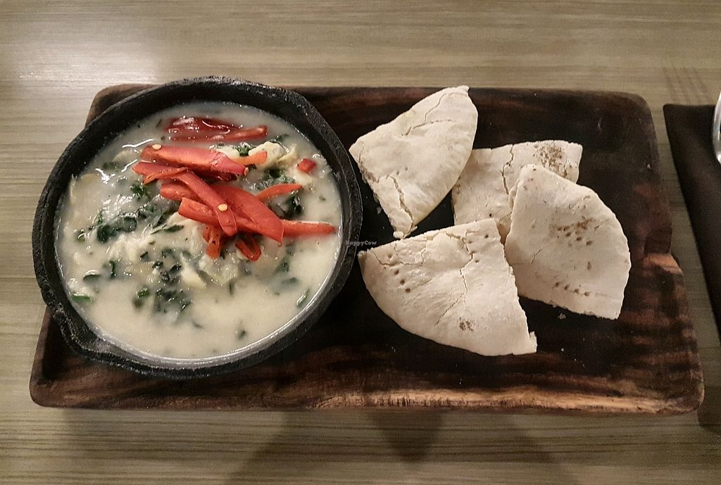 """Photo of Vegan Inc  by <a href=""""/members/profile/Mellow2bee"""">Mellow2bee</a> <br/>Kale and artichoke dip <br/> March 22, 2018  - <a href='/contact/abuse/image/75864/374262'>Report</a>"""