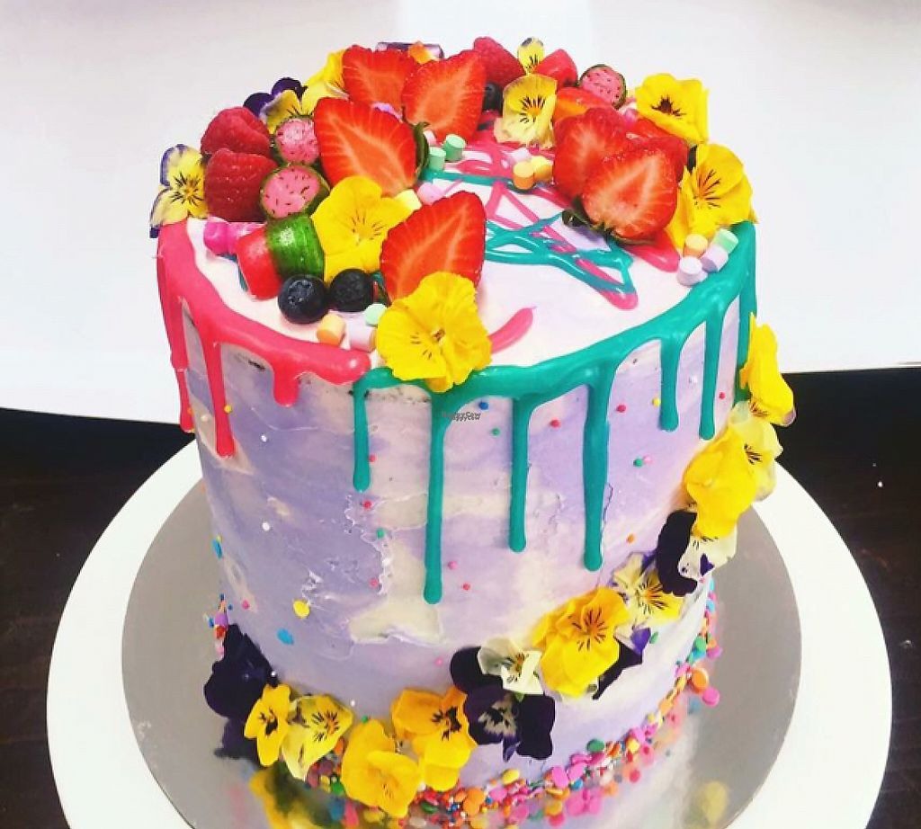 "Photo of My Little Panda Kitchen  by <a href=""/members/profile/Stacey86"">Stacey86</a> <br/>Pistachio Chocolate Cake with 6 layers covered in buttercream, berries, edible flowers, lollies & ganache!!! <br/> September 6, 2016  - <a href='/contact/abuse/image/75882/248126'>Report</a>"