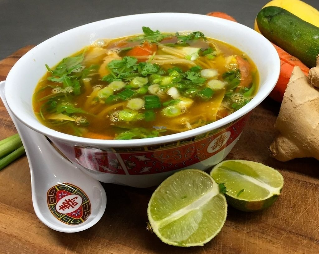 """Photo of Guernsey Kitchen  by <a href=""""/members/profile/BobMcKenna"""">BobMcKenna</a> <br/>Pho Bowl. Available as a random special. Vegan broth loaded with fresh veggies, rice noodles and mounds of fresh cilantro, jalapeños and lime juice.  <br/> September 7, 2016  - <a href='/contact/abuse/image/75907/216144'>Report</a>"""
