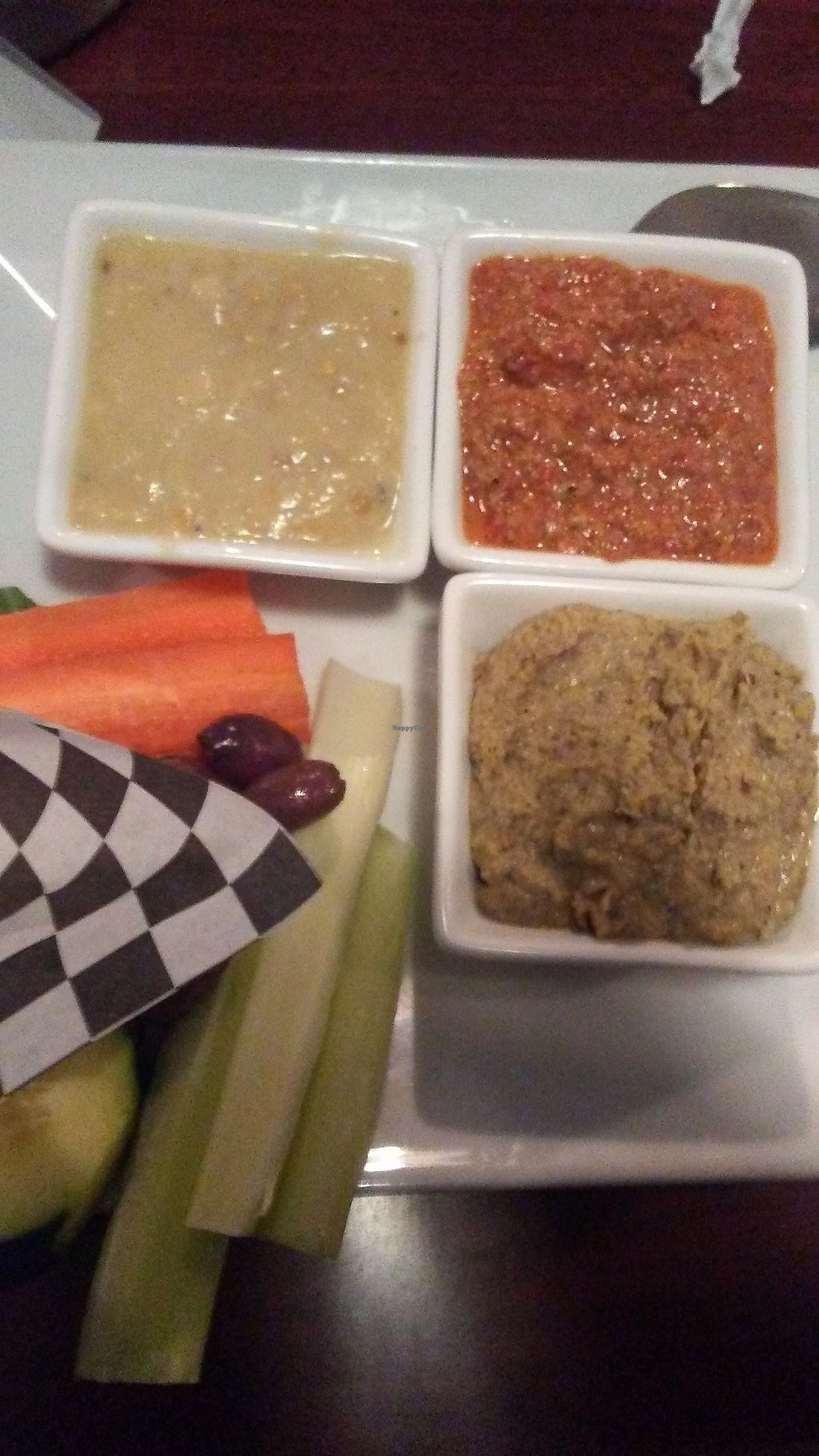 """Photo of Guernsey Kitchen  by <a href=""""/members/profile/Williamewq123ify"""">Williamewq123ify</a> <br/>Combo appetizer  Hummus Baba Ganoush Muhammara <br/> August 30, 2017  - <a href='/contact/abuse/image/75907/298991'>Report</a>"""