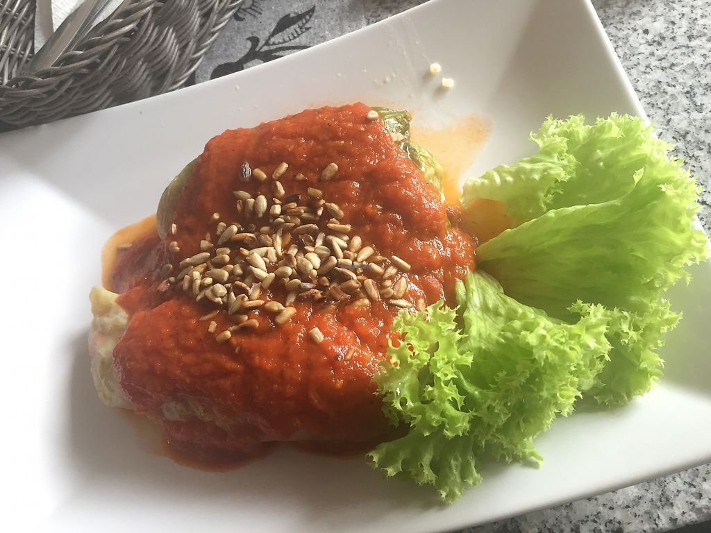"Photo of Green Zebra  by <a href=""/members/profile/veg_x"">veg_x</a> <br/>Vg Cabbage rolls with tomato sauce (very filling!) <br/> July 7, 2017  - <a href='/contact/abuse/image/75918/277437'>Report</a>"