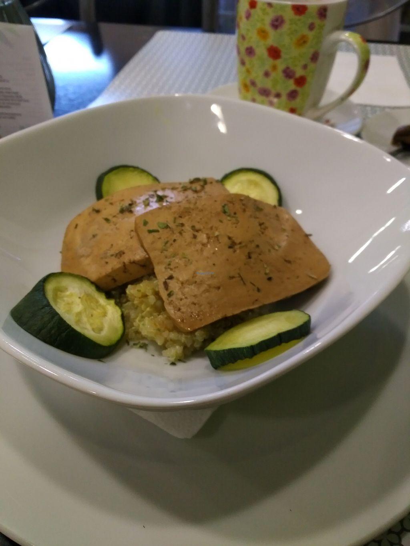 "Photo of La Vita e Vegan  by <a href=""/members/profile/Ryecatcher"">Ryecatcher</a> <br/>Tofu with rice <br/> July 30, 2017  - <a href='/contact/abuse/image/75923/286592'>Report</a>"