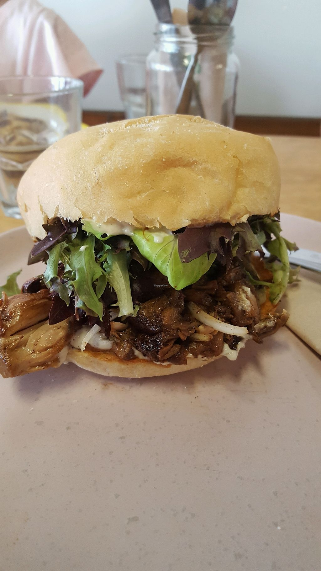 """Photo of The Nourished Eatery  by <a href=""""/members/profile/VegoRoboto"""">VegoRoboto</a> <br/>Jackfruit burger <br/> December 29, 2017  - <a href='/contact/abuse/image/75928/340267'>Report</a>"""