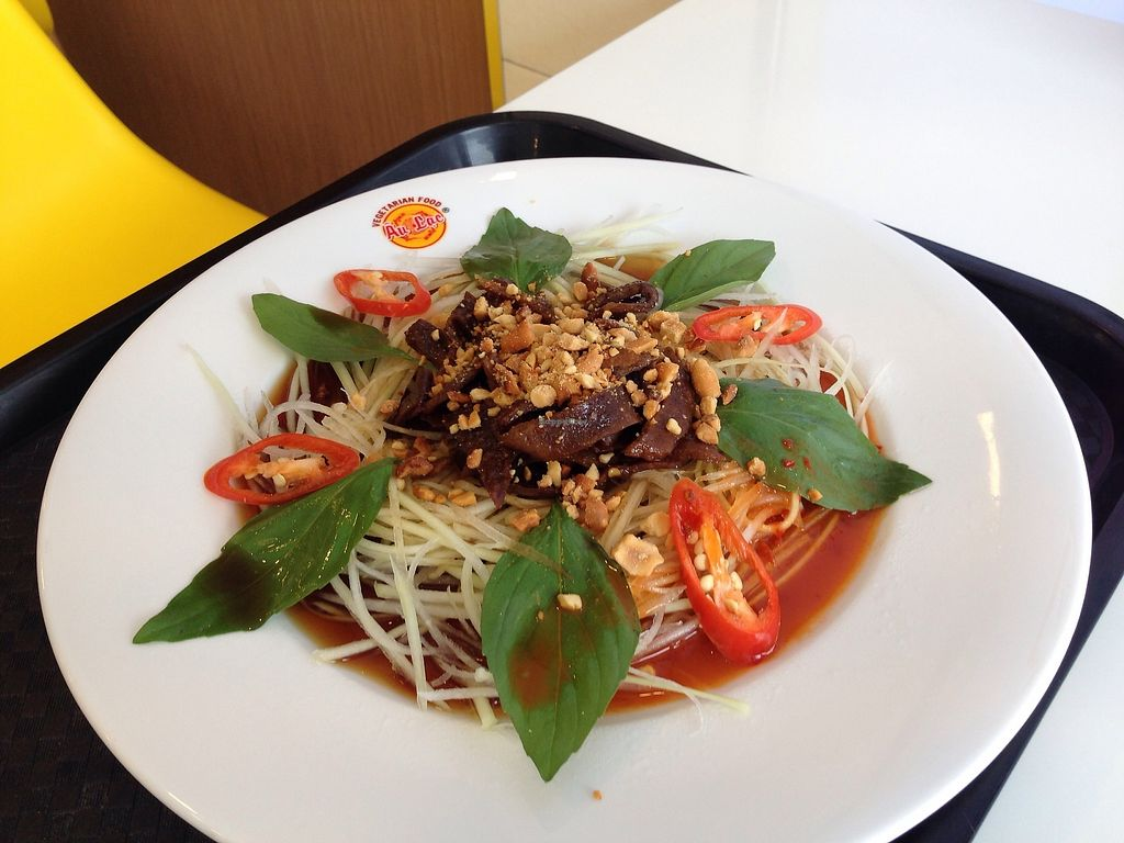 "Photo of Healthy Farm - XVNT Binh Thanh District  by <a href=""/members/profile/JeppoMAX"">JeppoMAX</a> <br/>Steak papaya salad (hats off to the texture) <br/> February 6, 2018  - <a href='/contact/abuse/image/75933/355634'>Report</a>"