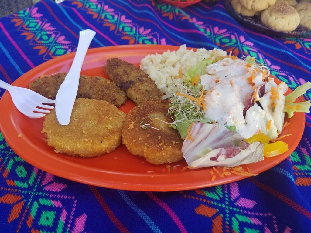 """Photo of Mazon Vegano  by <a href=""""/members/profile/kenvegan"""">kenvegan</a> <br/>potato and mushroom cakes <br/> July 6, 2016  - <a href='/contact/abuse/image/75948/158173'>Report</a>"""