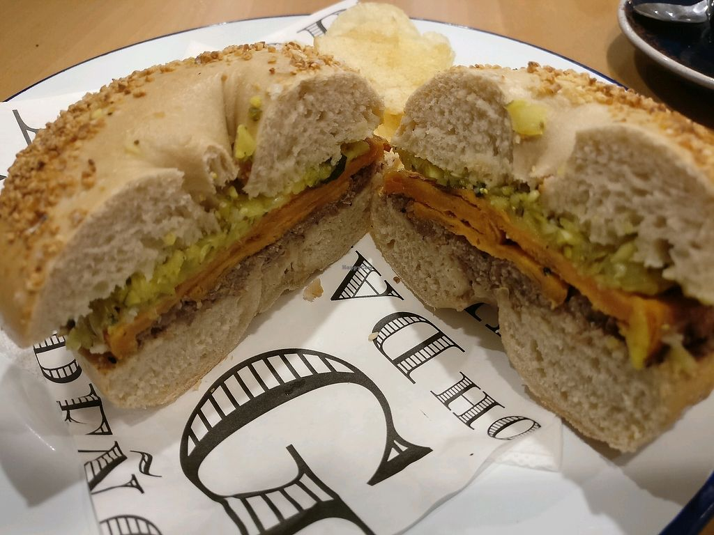 "Photo of 5 & Dime Bagel Co.  by <a href=""/members/profile/Aloo"">Aloo</a> <br/>sweet potato bagel <br/> April 13, 2018  - <a href='/contact/abuse/image/75950/384882'>Report</a>"
