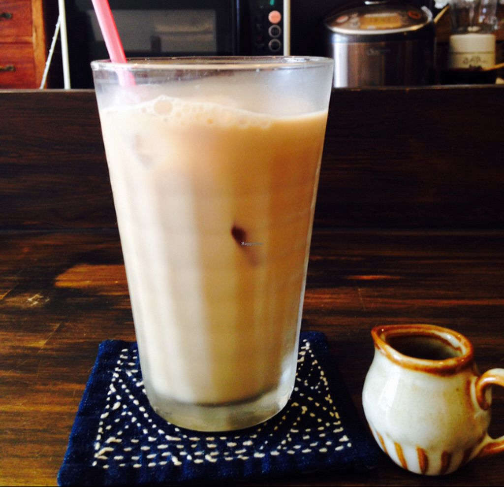 "Photo of Tsuyukusa  by <a href=""/members/profile/Nmcnevin"">Nmcnevin</a> <br/>Iced soy milk tea w/ maple syrup <br/> July 23, 2016  - <a href='/contact/abuse/image/75982/161679'>Report</a>"