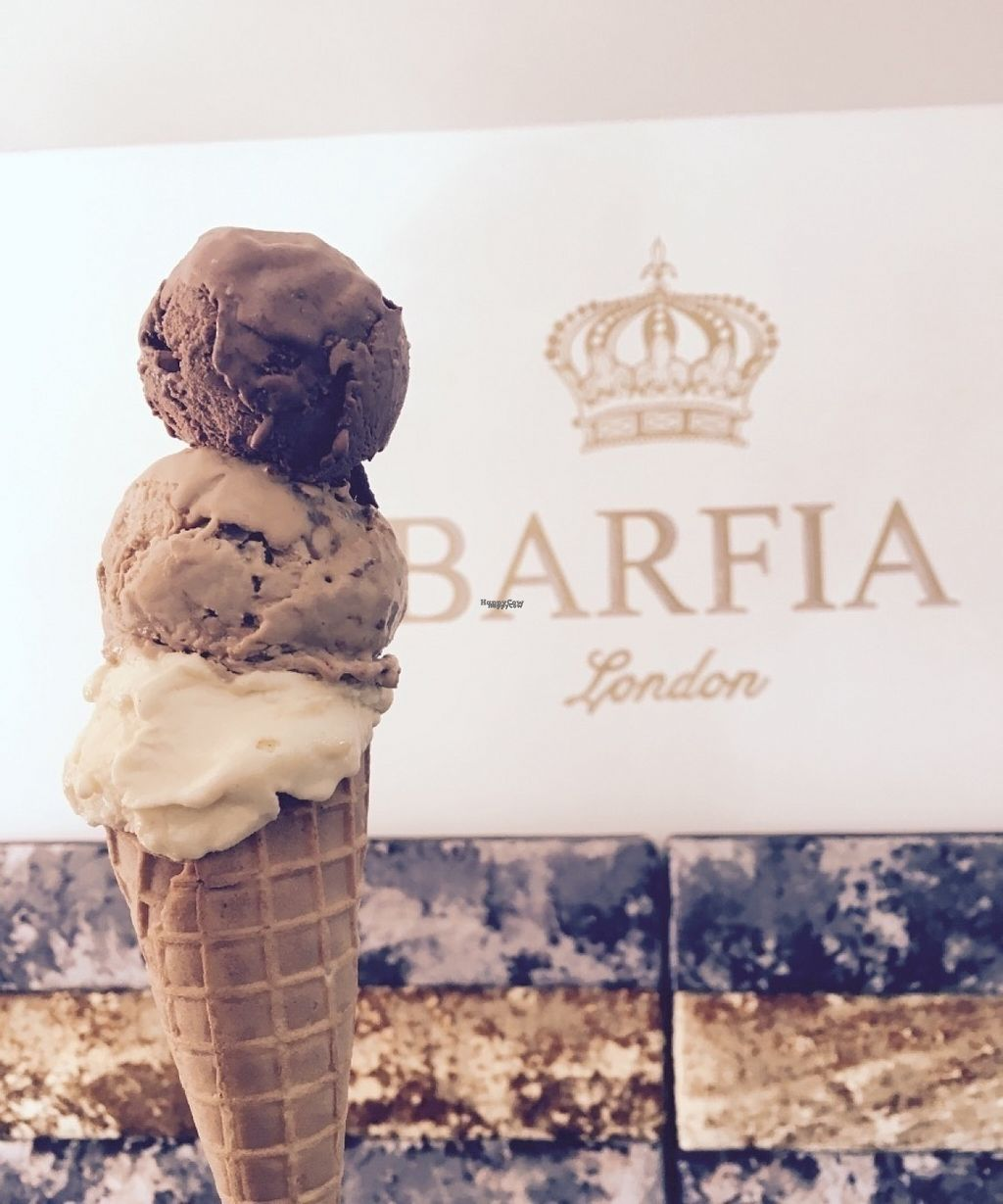 """Photo of Barfia  by <a href=""""/members/profile/VeganIndian"""">VeganIndian</a> <br/>Gelato three scoops <br/> August 14, 2016  - <a href='/contact/abuse/image/75988/168477'>Report</a>"""