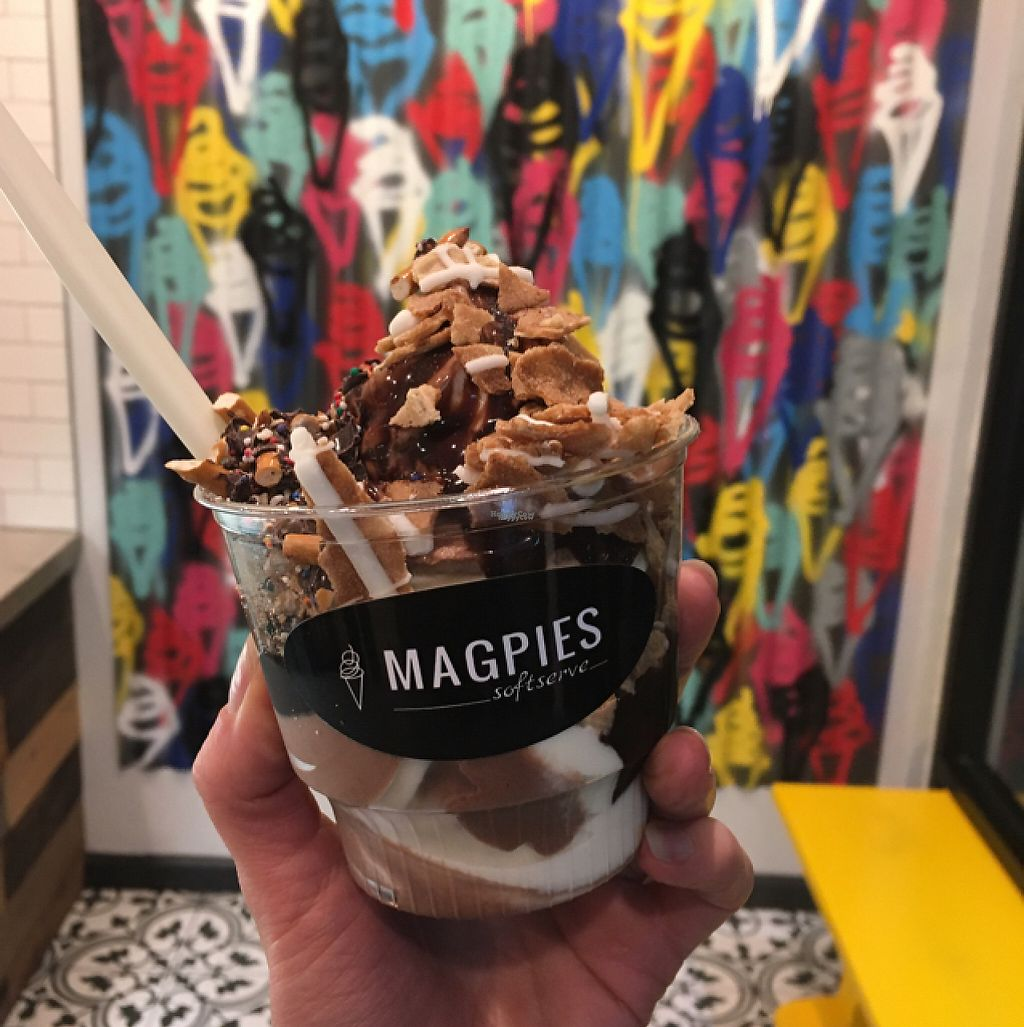 """Photo of Magpies Softserve  by <a href=""""/members/profile/Misanthropia"""">Misanthropia</a> <br/>Mexican hot chocoloate and almond ice cream <br/> February 4, 2017  - <a href='/contact/abuse/image/76001/221896'>Report</a>"""