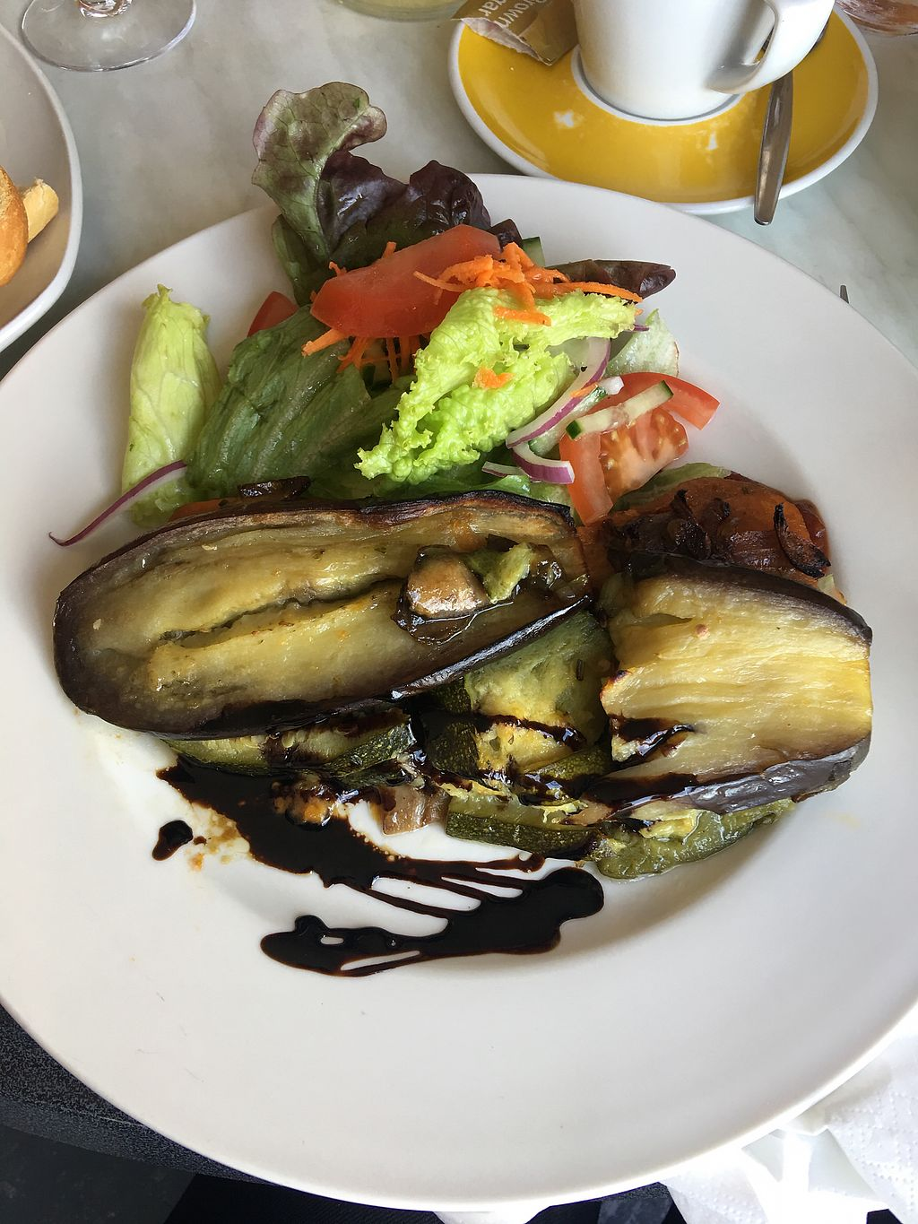"""Photo of O Dowds Cafe  by <a href=""""/members/profile/Picto"""">Picto</a> <br/>Roasted aubergine and salad <br/> August 15, 2017  - <a href='/contact/abuse/image/76014/292963'>Report</a>"""