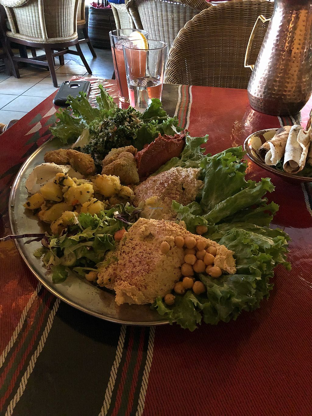 """Photo of Ranoush  by <a href=""""/members/profile/LindMiy"""">LindMiy</a> <br/>Vegetarian platter for 2! Amazing!  <br/> January 26, 2018  - <a href='/contact/abuse/image/76036/350949'>Report</a>"""