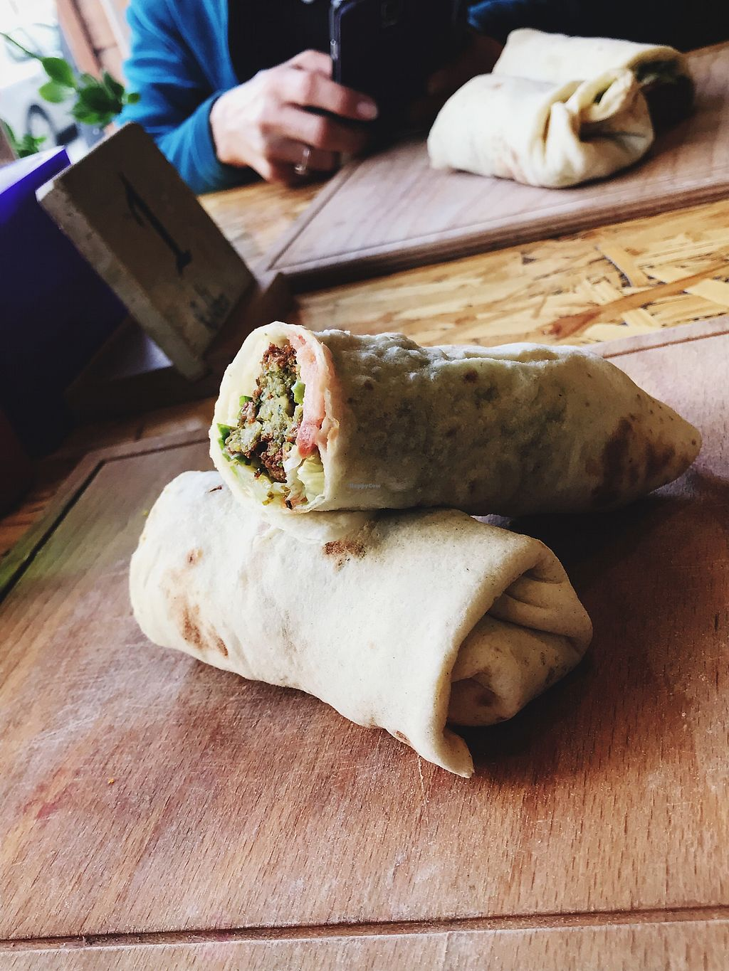 """Photo of Rokka  by <a href=""""/members/profile/veganoteacher"""">veganoteacher</a> <br/>Falafel Wrap <br/> January 29, 2018  - <a href='/contact/abuse/image/76042/352318'>Report</a>"""