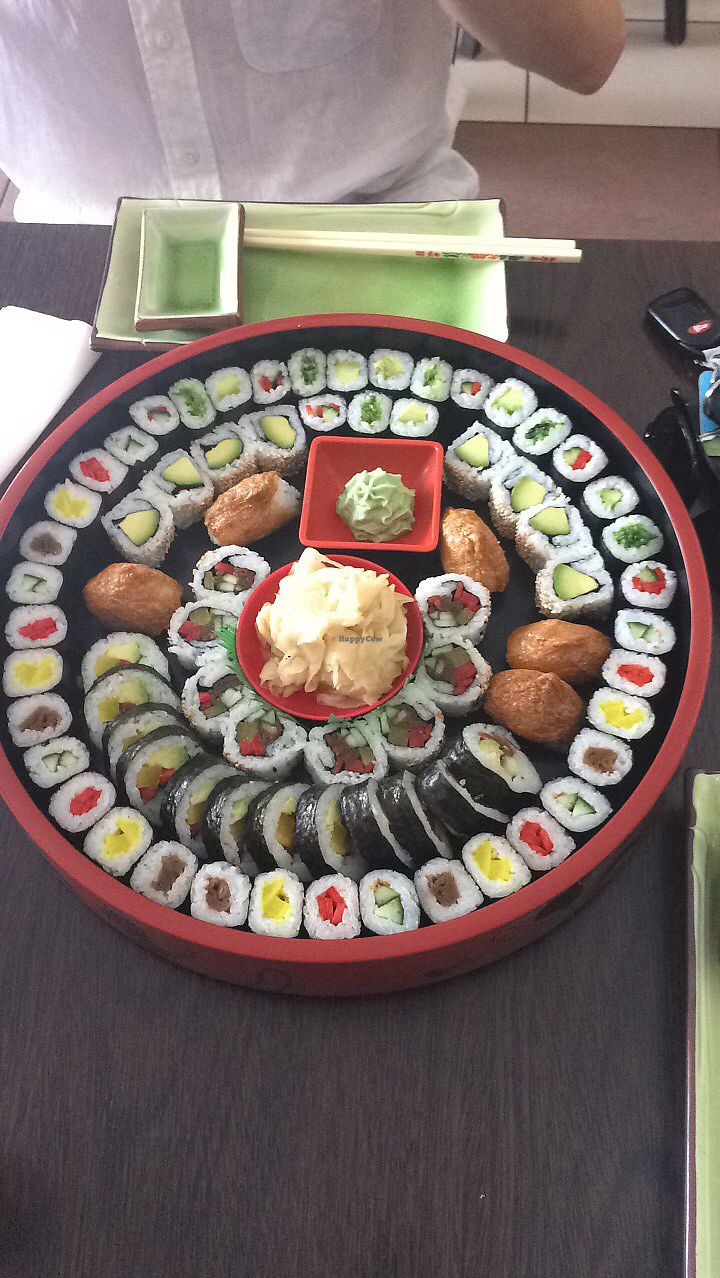 """Photo of Asia Family  by <a href=""""/members/profile/KarlaVanZantKelly"""">KarlaVanZantKelly</a> <br/>Vegan sushi family platter <br/> May 13, 2018  - <a href='/contact/abuse/image/76044/399102'>Report</a>"""