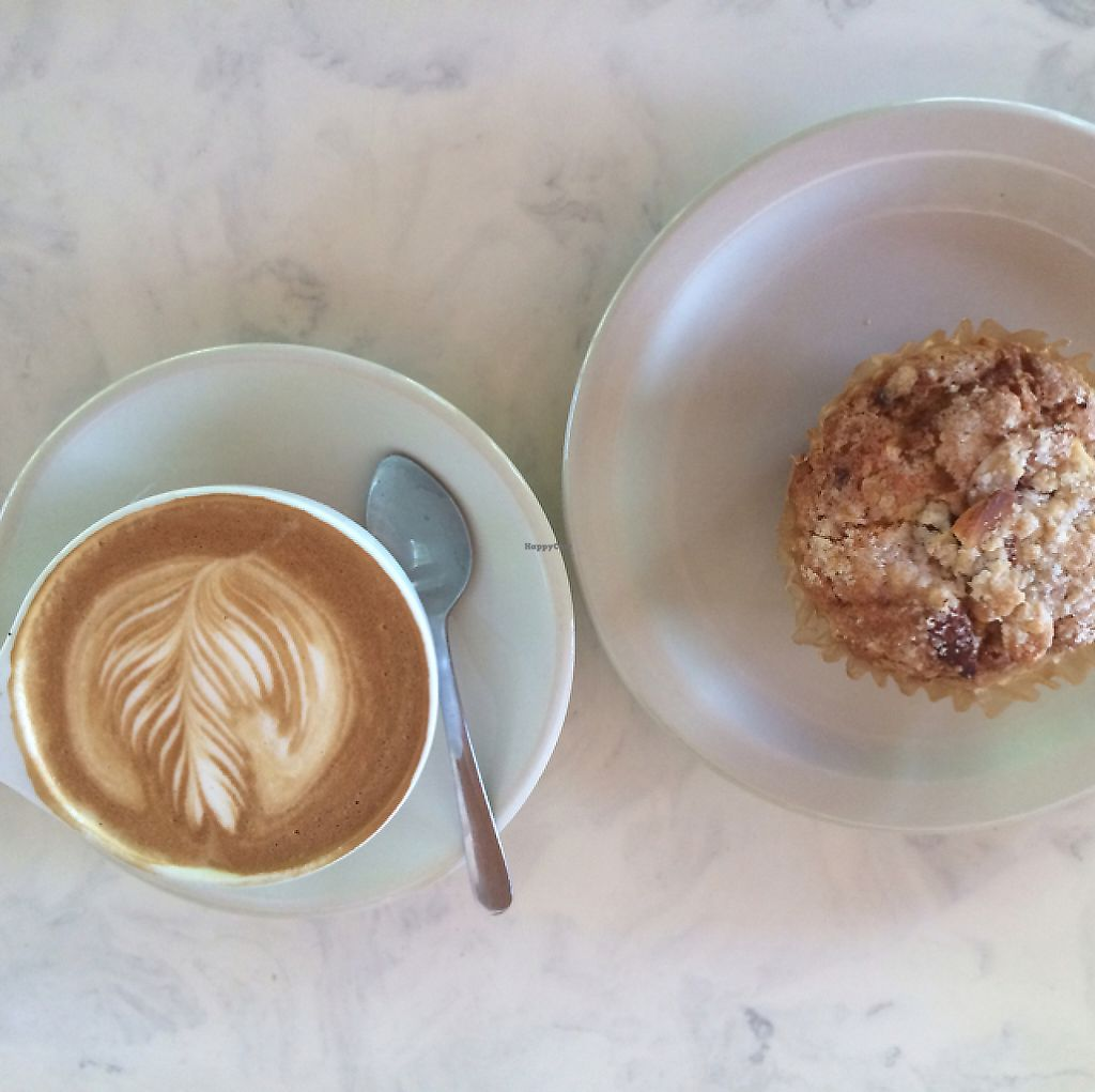 """Photo of Arsaga's at the Depot  by <a href=""""/members/profile/sarahbethcory"""">sarahbethcory</a> <br/>Cranberry Muffin and Latte <br/> July 6, 2016  - <a href='/contact/abuse/image/76066/189781'>Report</a>"""