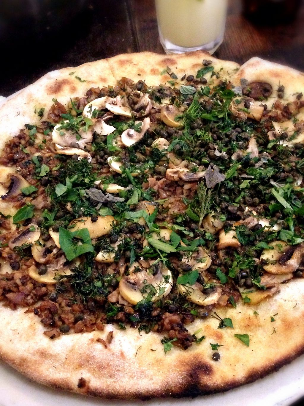 "Photo of Castle Farm Cafe  by <a href=""/members/profile/FranMcgarryArtist"">FranMcgarryArtist</a> <br/>Mushroom & Caper Vegan Pizza <br/> November 28, 2016  - <a href='/contact/abuse/image/76073/195274'>Report</a>"