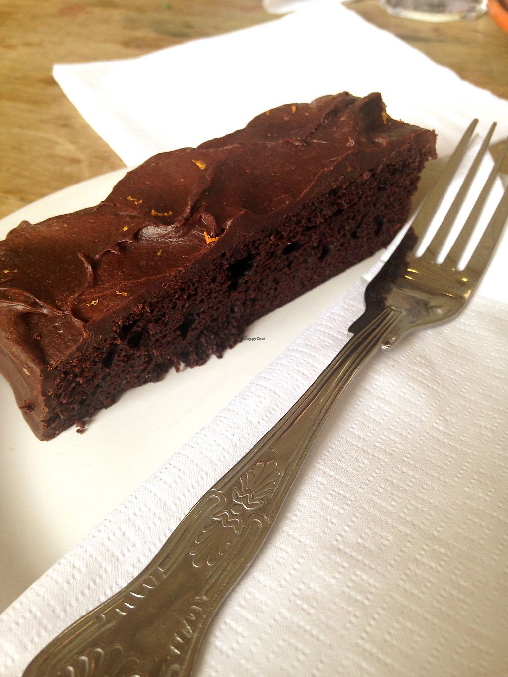 "Photo of Castle Farm Cafe  by <a href=""/members/profile/FranMcgarryArtist"">FranMcgarryArtist</a> <br/>Vegan Choc Orange Cake. Heavenly <br/> May 11, 2017  - <a href='/contact/abuse/image/76073/257839'>Report</a>"