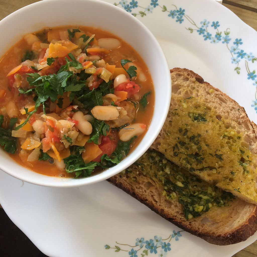 "Photo of Castle Farm Cafe  by <a href=""/members/profile/VeggieFromSpace"">VeggieFromSpace</a> <br/>Ribolita with olive oil topped sourdough bread <br/> July 14, 2017  - <a href='/contact/abuse/image/76073/280111'>Report</a>"